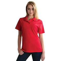 Show details for Ladies Classic Pique Knit Polo Polo Shirt Girl, Golfers, Shirts For Girls, Knitting, Lady, Classic, Mens Tops, Fashion, Pique