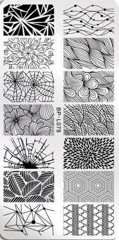 Nail Art Stamping Plates, Zentangle, Art Ideas, Abstract, Artwork, Summary, Work Of Art, Zentangle Patterns, Auguste Rodin Artwork