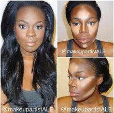 Contorno para peles negras / lindaaaa de invejar