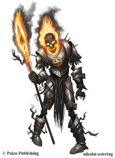Pathfinder - BURNING KNIGHT OF MOLOCH by NikolaiOstertag on DeviantArt