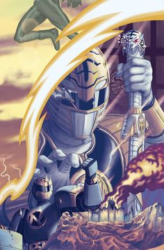 Shop for Mighty Morphin Power Rangers Copy Cover Morris Connecting V) from Boom! Comic book hits store shelves on August 2017 Go Go Power Rangers, Mighty Morphin Power Rangers, Kamen Rider, Tommy Oliver Power Rangers, Vr Troopers, Pawer Rangers, Hero Time, Hero 3, Clown Tattoo
