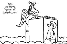 law school jokes - the lawyer tries to get into heaven.