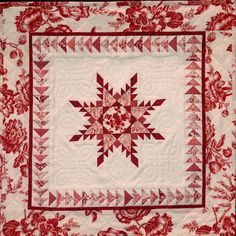 red and white quilt - I am in love with this! Want to try it or one like it!