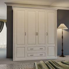 Шкаф Серия Классика эмаль с фрезеровкой SHSK-46042 на заказ производитель мебели Деметра Вудмарк