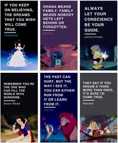 Life lessons from Disney movies <3