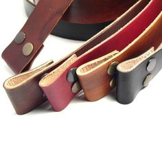 Hand dyed leather snap belts for your buckles custom cut on Etsy, Sold