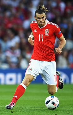 #EURO2016 Gareth Bale of Wales in action during the UEFA EURO 2016 Group B match between Russia and Wales at Stadium Municipal on June 20 2016 in Toulouse...