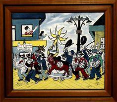 Bajado - quadro óleo sobre Tela Bumba Meu Boi 79 50x60cm - 14504