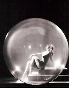 "Burlesque performer Sally Rand, creator of the ""bubble dance"" routine, mid 1930s"
