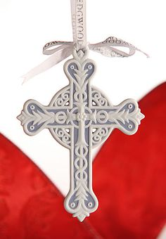 Wedgwood Cross Ornament. This is beautiful and has a substantial weight.