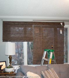 how to cut bamboo blinds shades, how to, window treatments, windows