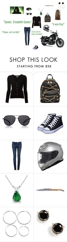 """""""Elizabeth Victoria Queen: Everyday Wear: Sunday"""" by mackenzie-lynn-ann-lilly ❤ liked on Polyvore featuring Michael Kors, Moschino, The Row, Balmain, Allurez, Forge de Laguiole and Kate Spade"""