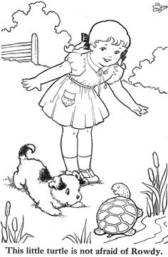 vintage coloring pages of children - photo#39