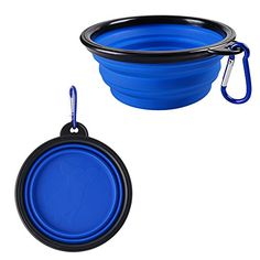 Kocome Portable Foldable Collapsible Pet Cat Dog Food Water Feeding Bowl Dish Feeder Blue * You can get additional details at the image link. Note: It's an affiliate link to Amazon.