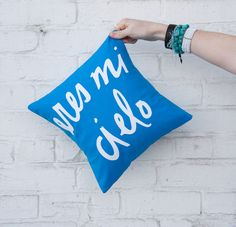 Eres Mi Cielo Pillow by BrightJuly