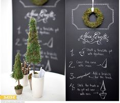 4 Easy Steps to making your own Moss Tree! - Christmas Decorations!