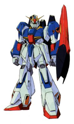The MSZ-006 Zeta Gundam (aka Zeta, Ζ Gundam, ζ Gundam) is the titular mobile suit of Mobile Suit Zeta Gundam. Though the unit itself had many pilots throughout Zeta Gundam and Mobile Suit Gundam ZZ, it was most famously piloted by its designer, Kamille Bidan.