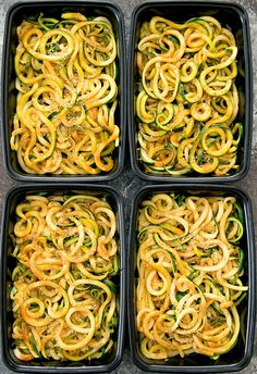 Asian-style sesame zucchini noodles are an easy meal prep that can be eaten hot or cold. Easy Asian-style sesame zucchini noodles are light and refreshing and perfect for weekly meal prep. Pastas Recipes, Diet Recipes, Spiralizer Recipes, Diabetes Recipes, Yummy Recipes, Trader Joe's, Easy Meal Prep, Easy Meals, Quinoa