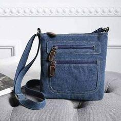 Bags Online Shopping, Shopping Bag, Denim Ideas, Denim Shoulder Bags, Denim And Lace, Recycled Denim, Denim Bag, Blue Bags, Purses And Bags