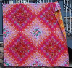 Kaffe Fassett Blush Quilt made by Caribousmom, September 2012