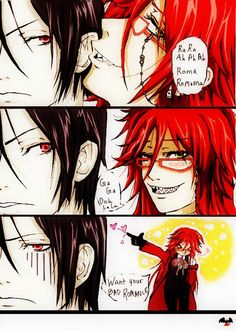 Good luck with that, Grell XD  Lol love this pin it combines Lady Gaga and Black Butler, which equals awesome