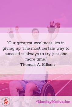 "This Monday, be reminded from Thomas Edison that giving up is never the best option. ""Our greatest weakness lies in giving up. The most certain way to succeed is always to try just one more time."" #MondayMotivation #LiverLover"
