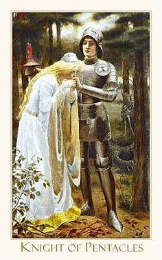 Victorian Romantic Tarot,The Knight of Pentacles