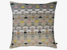 ODEON MULTI-COLOURED Linen 60 x 60cm multi-coloured patterned cushion - HabitatUK