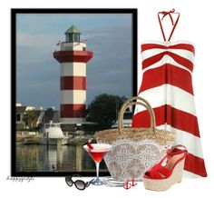 HILTON HEAD, S.C. by happygirljlc on Polyvore featuring polyvore fashion style French Connection Diavolina Flora Bella Dinny Hall Prada clothing