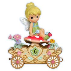 """Precious Moments / Disney """"Have A Fairy Happy Birthday"""" Tinker Bell Age Six Figurine-Hand crafted in exquisite hand-painted resin Disney Precious Moments, Precious Moments Figurines, Disney Figurines, Collectible Figurines, Disney Statues, Tinker Bell, Walt Disney, Disney Magic, Disney Time"""
