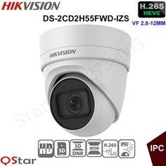 Hikvision 5MP Vari-focal Security IP Camera H.265 DS-2CD2H55FWD-IZS Turret CCTV Camera 2.8-12mm face detection Original English