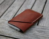 grams28 - iPhone 5 Handmade Molding Leather Case iPhone Leather sleeve tanned leather. $48.99, via Etsy.