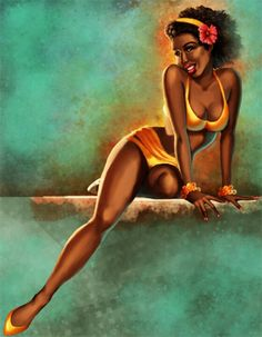 black pin up. love this one!