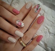 Cute Nail Art Designs For Short Nails 2019 10 Cute Nail Art Designs, Short Nail Designs, Nail Designs Spring, Popular Nail Designs, Spring Nail Trends, Spring Nail Art, Spring Nails, Rose Nail Art, Nagellack Trends