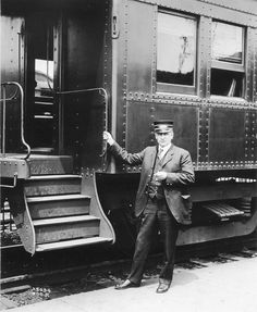 Conductor Harry Renshaw consults his pocket watch just prior to the departure of a Boonton branch suburban commuter local on the Delaware, Lackawanna & Western Railroad in the mid 1920s. - Railroad Museum of Pennsylvania Amazon Publishing, A Hat In Time, Rail Car, Rolling Stock, Train Tracks, Car Wallpapers, Conductors, Car Pictures, Vintage Photos