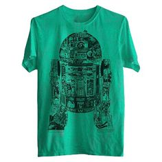 Men's Star Wars R2D2 T-Shirt Green