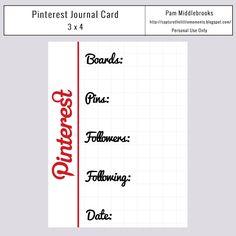 Freebie: Pinterest Journal Card