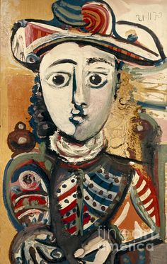PICASSO: WOMAN, 1970. Pablo Picasso: Woman Seated in an Armchair. Oil on canvas, 1970.
