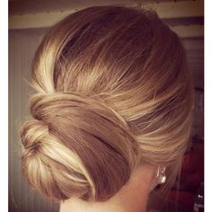 20 Low Updo Hair Styles for Brides ❤ liked on Polyvore featuring beauty products, haircare, hair styling tools, hair, beauty and hairstyles