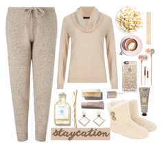 """""""Staycation"""" by bamaannie ❤ liked on Polyvore featuring M&S Collection, Casetify, Martha Stewart, Stila, Essie, BaubleBar, contestentry and staycation"""