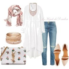 Hijab Outfit by le-hijab-de-doudou on Polyvore featuring polyvore, Mode, style, MANGO, Current/Elliott, Charlotte Russe, Yves Saint Laurent, Red Camel, fashion and clothing