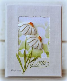 LOOOOVE IT!!! Double up the Bashful die flower top. Rapport från ett skrivbord: Daisy from Penny Black