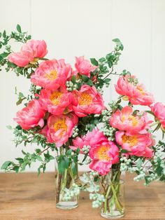 Magical Elegance is a Pool Filled with Coral Peonies
