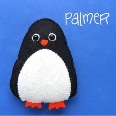 Use this simple felt penguin pattern to make a Christmas tree ornament or a stuffed animal friend for your dolls and teddy bears. :-)