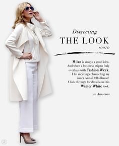 Discover the latest in beauty at Anastasia Beverly Hills. Skirt Pants, Pants Outfit, Anastasia Soare, Fashion Over Fifty, Channeling My Inner, Anna Dello Russo, White Skirts, Business Travel, Winter White