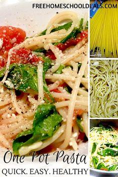 QUICK + EASY One Pot Pasta Recipe!