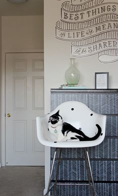 DIY Projects: Mid-Century Shell Chair Updates | Apartment Therapy