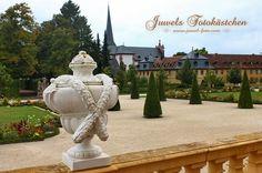 Balustrade mit Putten und Vasen Schloss und Rokokogarten in Veitshöchheim