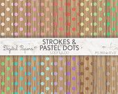 STROKES PASTEL DOTS, Summer, colorful, Structure, Image, scrapbooking, craft, printable sheets, background, texture, candy