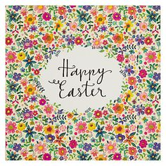 Buy Rachel Ellen Happy Easter Floral Card Online at johnlewis.com